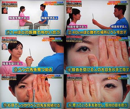 目のズレを調べるカバーテスト
